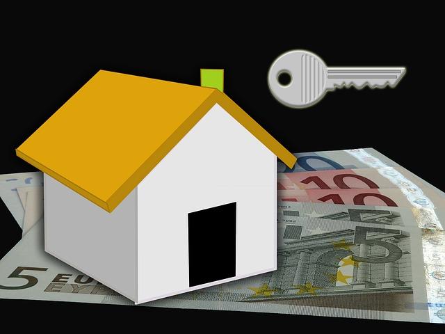 domeček, eura, klíč