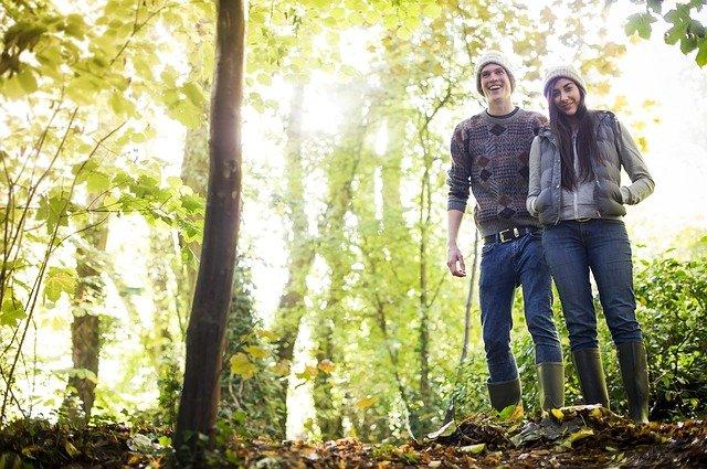 procházení lesem