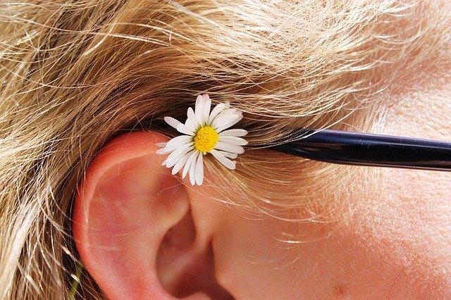 sedmikráska za uchem